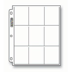 Ultra Pro Nine (9) Pocket Platinum Series Pages - 100 count box  (Works with any 3-Ring Binder) *** front image