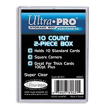 Ultra Pro Clear Plastic Storage Box - holds up to 10 cards