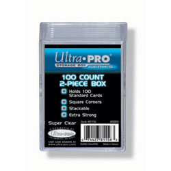 Ultra Pro Clear Plastic Storage Box - holds up to 100 cards