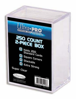 Ultra Pro Clear Plastic Storage Box - holds up to 250 cards