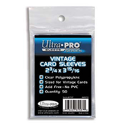 Ultra Pro Vintage Card Sleeves - 50 count pack (2 3/4