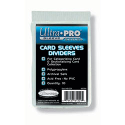 Ultra Pro Card Sleeves Dividers - 10 count pack