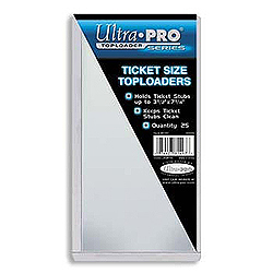 Ultra Pro Top Loader (Ticket Size) - pack of 25