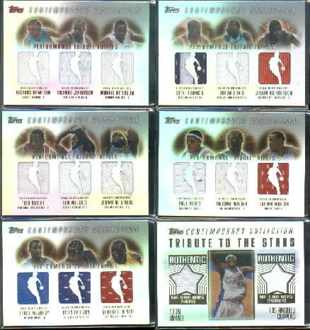 2003-04 Topps Contemporary Collection Performance Tribute Triples Red #HJP Richard Hamilton/Richard Jefferson/Morris Peterson