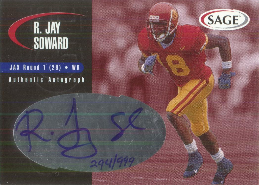 2000 SAGE Autographs Red #A43 R.Jay Soward/999