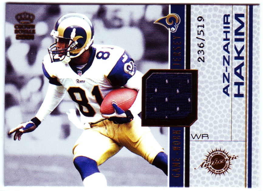 2001 Crown Royale Game Worn Jerseys #13 Az-Zahir Hakim/519