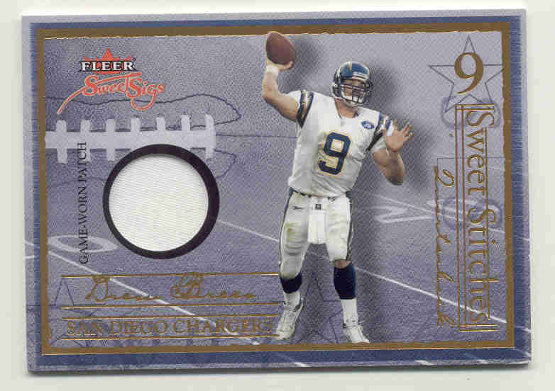 2004 Fleer Sweet Sigs Sweet Stitches Jersey Patches Gold #DB2 Drew Brees