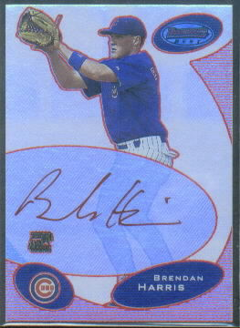 2003 Bowman's Best Red #BH Brendan Harris FY AU