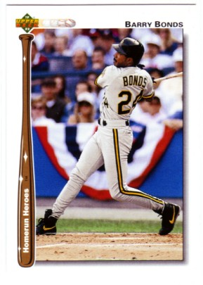 1992 Upper Deck Home Run Heroes #HR21 Barry Bonds