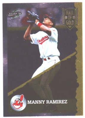 1995 Score Hall of Gold #HG38 Manny Ramirez