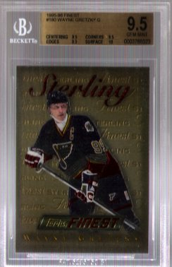 Wayne Gretzky Gold 1995-96 Finest BGS Grade 9.5 Gem Mint