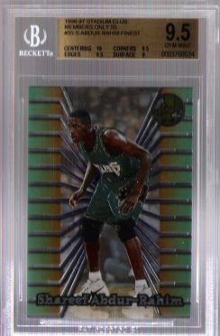 Shareef Abdur-Rahim FINEST 1996-97 Stadium Club Members Only 55 BGS Grade 9.5 GEM MINT ROOKIE!!
