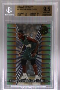 Shareef Abdur-Rahim FINEST 1996-97 Stadium Club Members Only 55 BGS Grade 9.5 Gem Mint Rookie