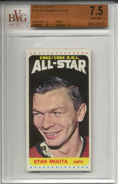 1964-65 Topps #106 Stan Mikita AS SP