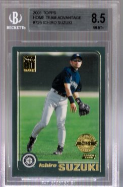 Ichiro Suzuki 2001 Topps Home Team Advantage #726 BGS Grade 8.5 ROOKIE! LIMITED!