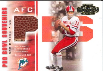 2001 Playoff Honors Souvenirs #PB8 Bob Griese FB