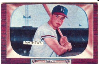1955 Bowman #103 Eddie Mathews