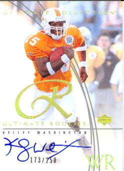 2003 Ultimate Collection #102 Kelley Washington AU/250 RC