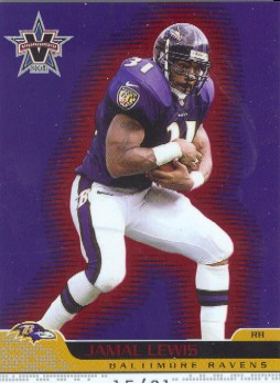 2001 Vanguard Red #7 Jamal Lewis/31
