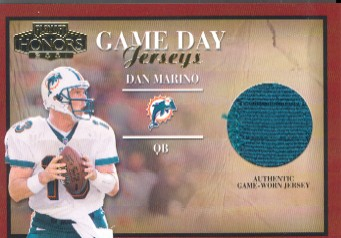 2001 Playoff Honors Game Day Jerseys #GD30 Dan Marino