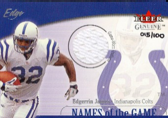 2001 Fleer Genuine Names of the Game Jerseys #6 Edgerrin James
