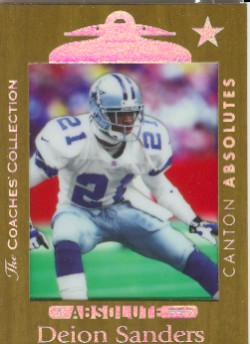 1999 Absolute SSD Coaches Collection Gold #115 Deion Sanders CA