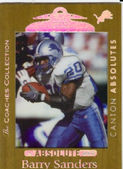 1999 Absolute SSD Coaches Collection Gold #118 Barry Sanders CA