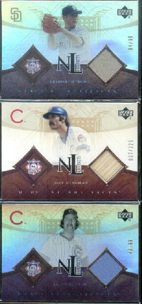 2005 Artifacts AL/NL Artifacts Rainbow #SU Bruce Sutter Jsy/99