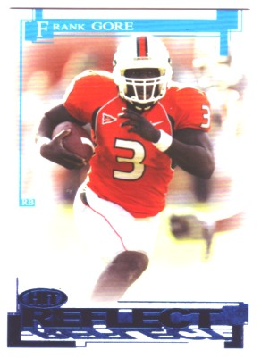 2005 SAGE HIT Reflect Blue #R3 Frank Gore