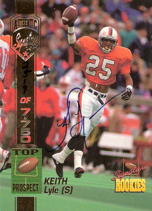 1994 Signature Rookies Autographs #32 Keith Lyle