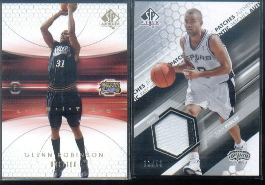 2004-05 SP Authentic Fabrics Patches #TP Tony Parker
