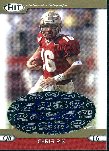 2005 SAGE HIT Autographs Gold #46 Chris Rix