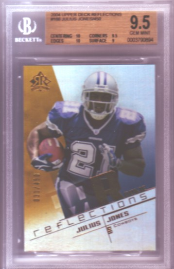 2004 Reflections #166 Julius Jones RC ROOKIE 31/450 BGS-9.5 GEM MINT Dallas Cowboys BGS
