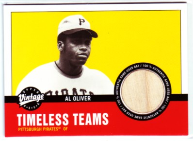 2001 Upper Deck Vintage Timeless Teams #PIAO Al Oliver Bat