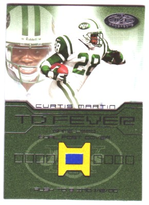2001 Hot Prospects TD Fever #8 Curtis Martin