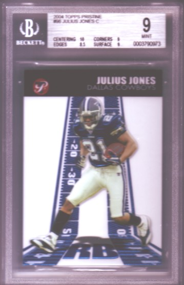 2004 Topps Pristine #96 Julius Jones C RC ROOKIE BGS-9.0 MINT Dallas Cowboys