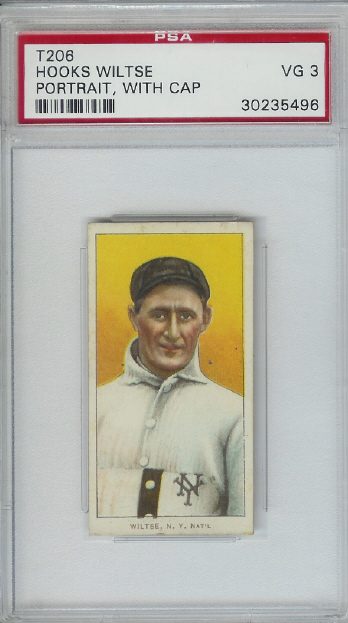 1909-11 T206 #520 Hooks Wiltse Portrait No Cap