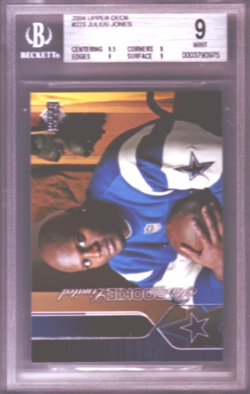 2004 Upper Deck #223 Julius Jones RC ROOKIE BGS-9.0 MINT Dallas Cowboys