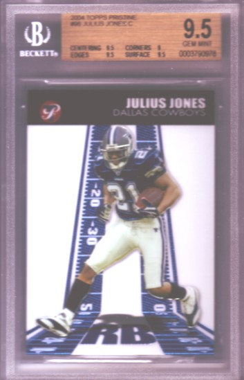 2004 Topps Pristine #96 Julius Jones C RC ROOKIE BGS-9.5 GEM MINT Dallas Cowboys
