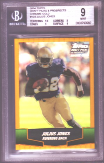 2004 Topps Draft Picks and Prospects Chrome Gold #134 Julius Jones RC ROOKIE BGS-9.0 MINT Cowboys .
