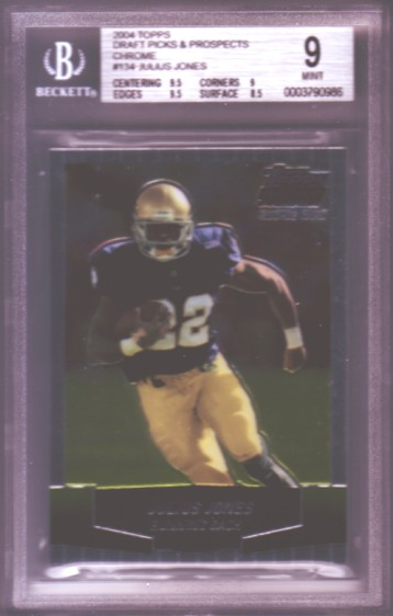 2004 Topps Draft Picks and Prospects Chrome #134 Julius Jones RC ROOKIE BGS-9.0 MINT Cowboys BGS