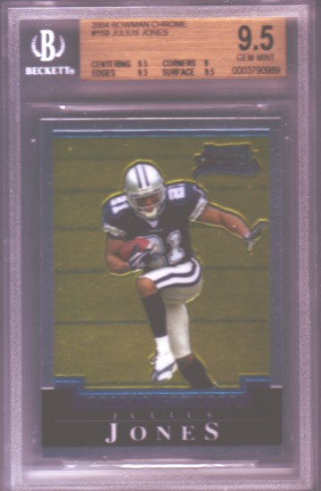 2004 Bowman Chrome #159 Julius Jones RC ROOKIE BGS-9.5 GEM MINT Dallas Cowboys BGS