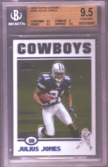 2004 Topps Chrome #206 Julius Jones RC ROOKIE BGS-9.5 GEM MINT Dallas Cowboys