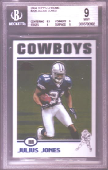 2004 Topps Chrome #206 Julius Jones RC ROOKIE BGS-9.0 MINT Dallas Cowboys