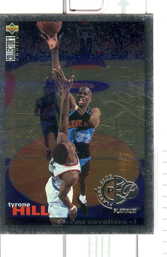 1995-96 Collector's Choice Player's Club Platinum #20 Tyrone Hill