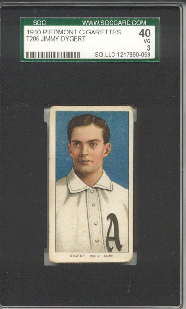 1909-11 T206 #157 Jimmy Dygert