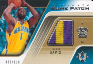 2004-05 Ultimate Collection Game Patches #BD Baron Davis/100