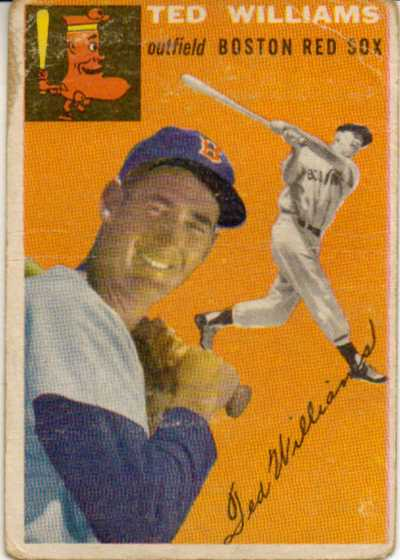 1954 Topps #1 Ted Williams front image