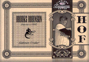 2005 Timeless Treasures HOF Silver #5 Brooks Robinson