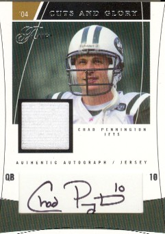 2004 Flair Cuts and Glory Silver #CHAD Chad Pennington